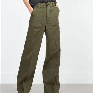 Zara high waist wide leg sailor pants